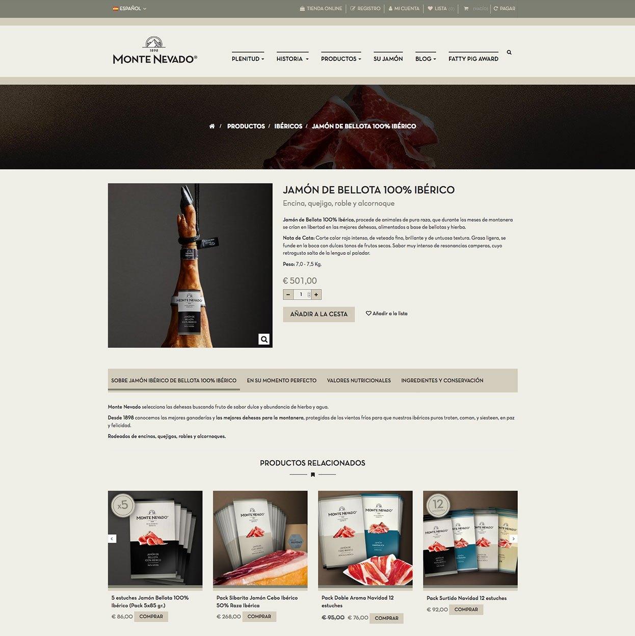Tienda online - Monte Nevado